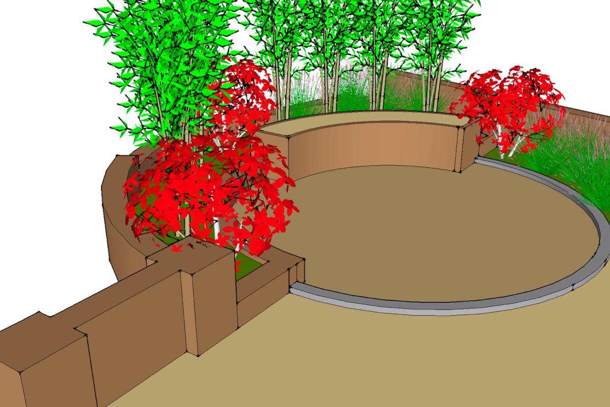 Lovely Resin Garden Drawing