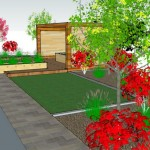 Sandyford Garden Drawing