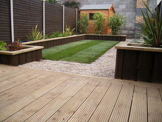 Glasnevin decking project for Garden decking borders