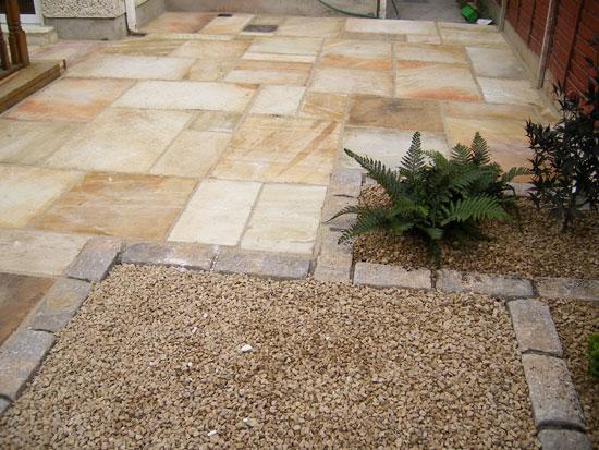 Finglas garden patio paving project for Back garden paving designs